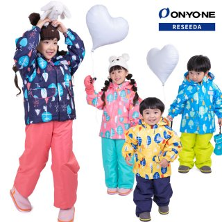 ONYONE RESEEDA(オンヨネ レセーダ) RES53002 キッズ スキーウェア 上下セット 100 110 120 雪遊び サイズ調整付き