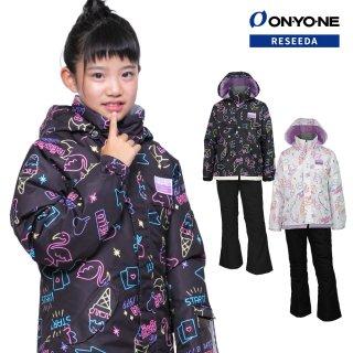 ONYONE RESEEDA(オンヨネ レセーダ) RES63003NT ジュニア ガールズ スキーウェア 上下セット JUNIOR SUIT セットアップ 子供用