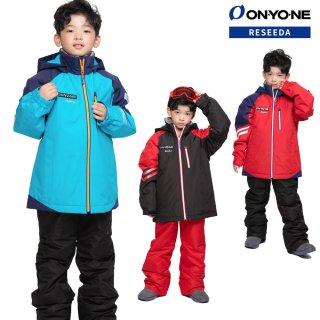 ONYONE(オンヨネ) RUS73001A ジュニア スキーウェア 上下セット スキースーツ JUNIOR SUIT 子供用 小学生