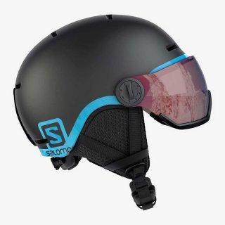 SALOMON(サロモン) L39916300 GROM VISOR ジュニア スノーヘルメット バイザー付き 子供用