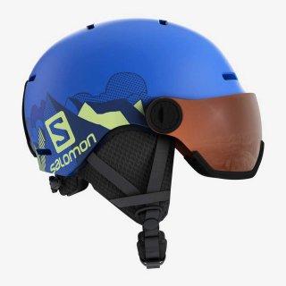 SALOMON(サロモン) L40539600 GROM VISOR ジュニア スノーヘルメット バイザー付き 子供用