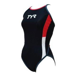 TYR(ティア) FCOLRJR-20M ジュニア ガールズ 競泳トレーニング水着 練習用 ハイカット フレックスバック