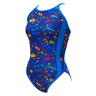 TYR(ティア) FENJYJR-20M ジュニア ガールズ 競泳トレーニング水着 練習用 ハイカット フレックスバック