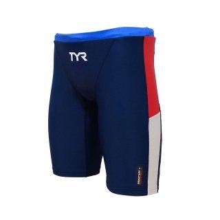 TYR(ティア) JCOLRJR-20M ジュニア ボーイズ ロングボクサー 競泳トレーニング水着 練習用