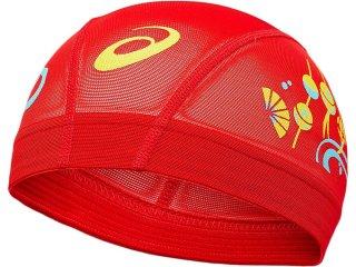 ASICS(アシックス) 3163A221 2色プリントメッシュキャップ 水泳 スイムキャップ 帽子