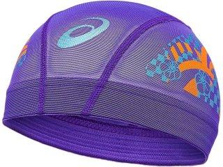 ASICS(アシックス) 3163A222 2色プリントメッシュキャップ 水泳 スイムキャップ 帽子