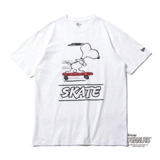 NEW ERA(ニューエラ) 12674189 PEANUTS  SNOOPY ピーナッツ スヌーピー スケートボード Tシャツ