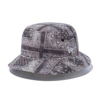 NEW ERA(ニューエラ) 12654339 バケット01 タイダイペイズリー ブラック 帽子 バケットハット