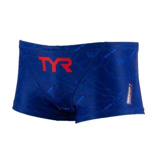 TYR(ティア) BCMAP-20S メンズ 競泳トレーニング水着 ショートボックス スイムパンツ TEAM CHEVRON