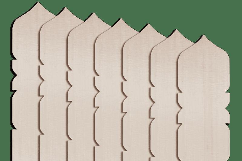 卒塔婆2尺×2寸4分×7mm宝珠型等級B(50本入)