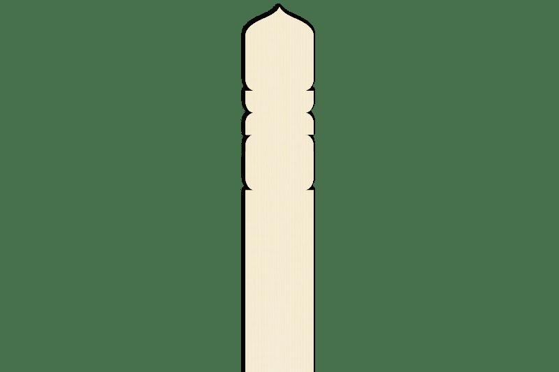 卒塔婆2尺1寸×2寸1分5厘×7mm等級C(1本入)