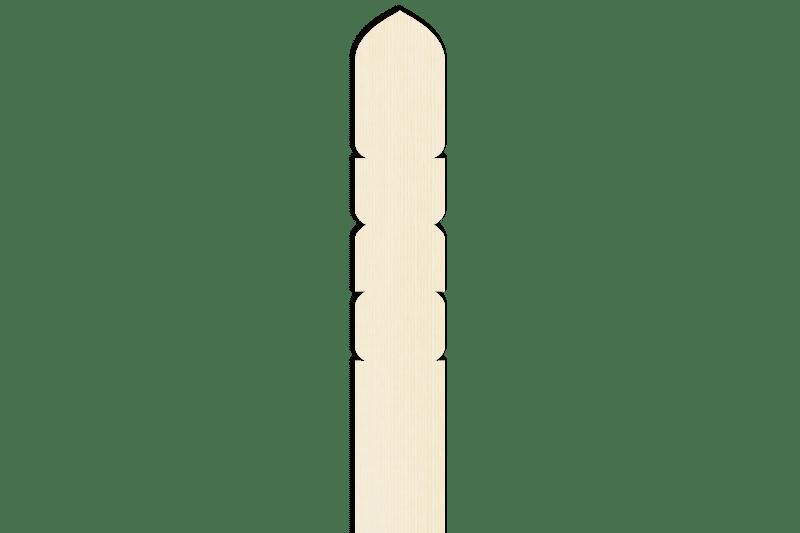 卒塔婆2尺5寸×2寸×9mm等級A(1本入)