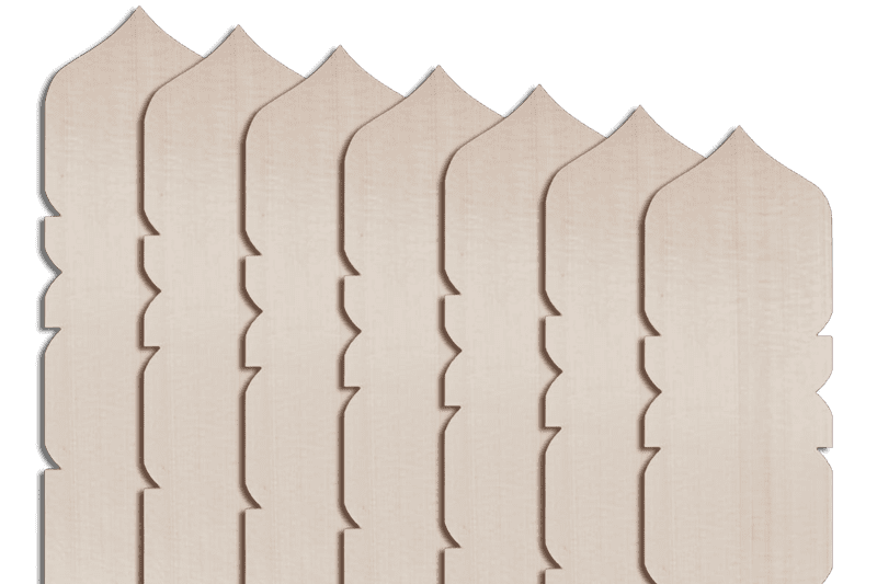 卒塔婆2尺×2寸4分×7mm宝珠型等級C(50本入)