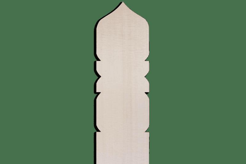 卒塔婆2尺5寸×2寸4分×9mm宝珠型等級B(1本入)