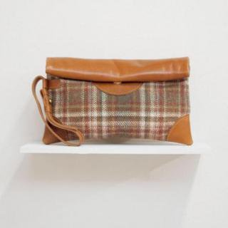 Sseko Designs:<br>Alder Clutch in Caramel