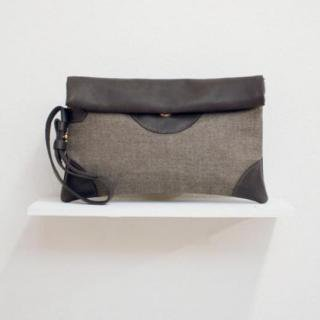 Sseko Designs:<br>Dove in Espresso Clutch