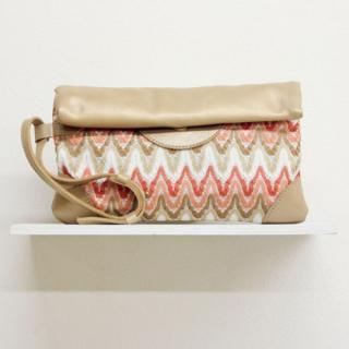 Sseko Designs:<br>Woven Voyage Blush Clutch