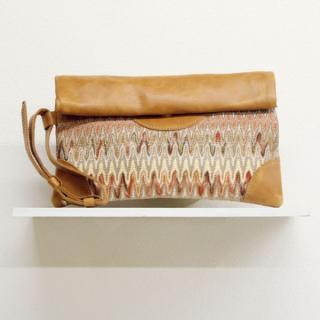 Sseko Designs:<br>Woven Voyage Natural Clutch
