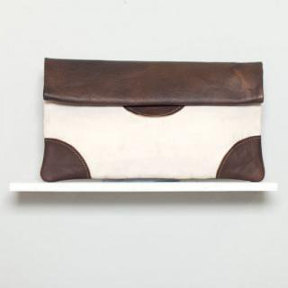 Sseko Designs:<br>Espresso Brown Saddle Clutch