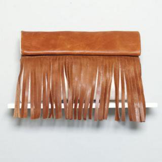 Sseko Designs:<br>Caramel Full Fringe Clutch