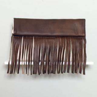 Sseko Designs:<br>Espresso Brown Full Fringe Clutch