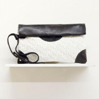 Sseko Designs:<br>Espresso Brown Woven Voyage Clutch