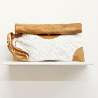 Sseko Designs:<br>Caramel Woven Voyage Clutch