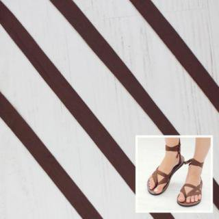 Sseko Designs:<br>Solid Brown Sandal Straps
