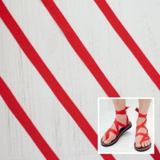 Sseko Designs:<br>Solid Red Sandal Straps