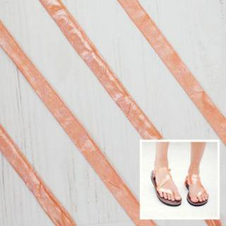 Sseko Designs:<br>Metallic Dreamsicle Sandal Straps