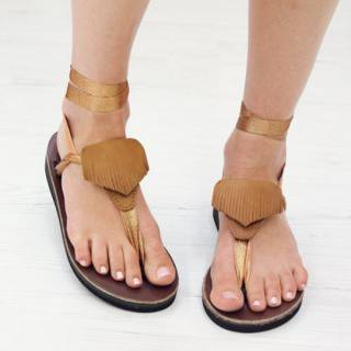 Sseko Designs:<br>Fringed Triangle Sandal Accent