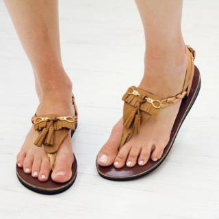 Sseko Designs:<br>Tassel Sandal Accent