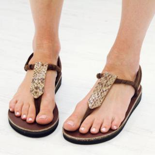 Sseko Designs:<br>Brown Snakeskin Sandal Accent
