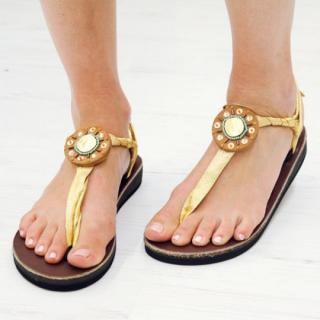 Sseko Designs:<br>Josephine Circle Sandal Accent