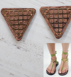 Sseko Designs:<br>Bronze Triangle Sandal Accent