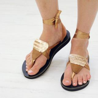 Sseko Designs:<br>Sequined Sandal Accent