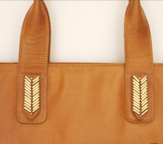 Sseko Designs:<br>Caramel Mojave Tote Accent
