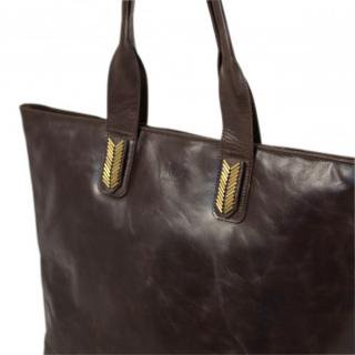 Sseko Designs:<br>Espresso Brown Mojave Tote Accent
