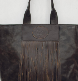 Sseko Designs:<br>Espresso Brown Full Fringe Tote Accent