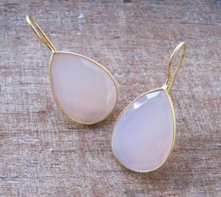 Belesas:<br>Rose Quartz Earrings