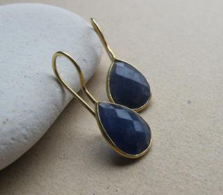 Belesas:<br>Blue Lapis Lazuli Earrings