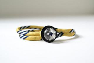 Triangle Theory:<br>Handmade Bracelet<br>(Yellow)