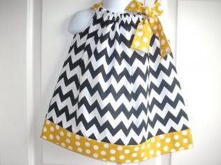Back Porch Kids:<br>Pillowcase Dress<br>Black x Yellow