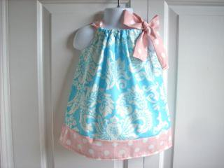Back Porch Kids:<br>Pillowcase Dress<br>Blue x Pink