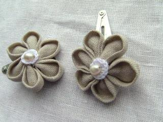 Man Crochets:<br>Hair Clip<br>(Brown Flower)