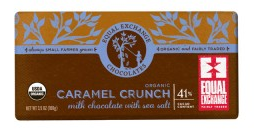 Equal Exchange<br>Caramel Crunch with Sea Salt (41%cacao)