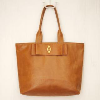 Sseko Designs:<br>Leather Obi in Caramel Accent Tote