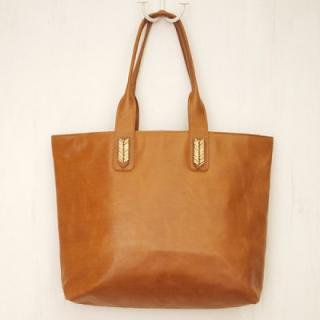 Sseko Designs:<br>Mojave in Caramel Accent Tote