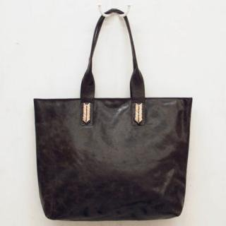 Sseko Designs:<br>Mojave in Espresso Brown Accent Tote