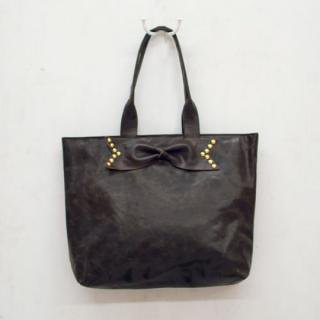 Sseko Designs:<br>Studded Bow in Espresso Brown Accent Tote